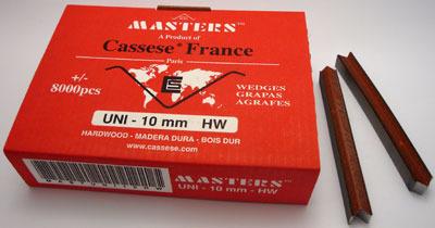 S20 - Klamry UNI 10 mm  do twardego drewna firmy Cassese