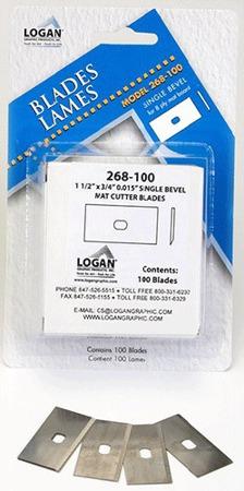 Ostrza Logan 268 do wycinania passe-partout - 100 sztuk